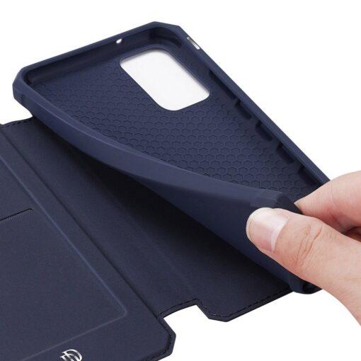 Samsung S20 kunstnahast kaaned kaarditaskuga DUX DUCIS Skin Pro roosa 18