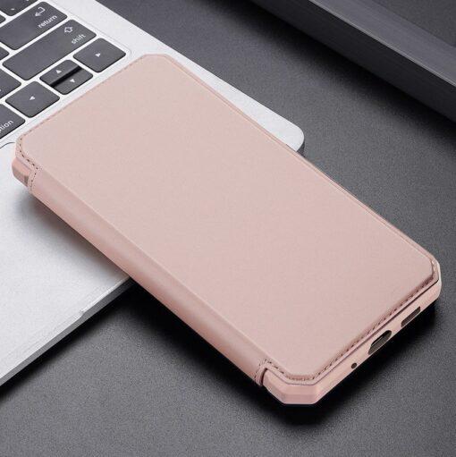 Samsung S20 kunstnahast kaaned kaarditaskuga DUX DUCIS Skin Pro roosa 19