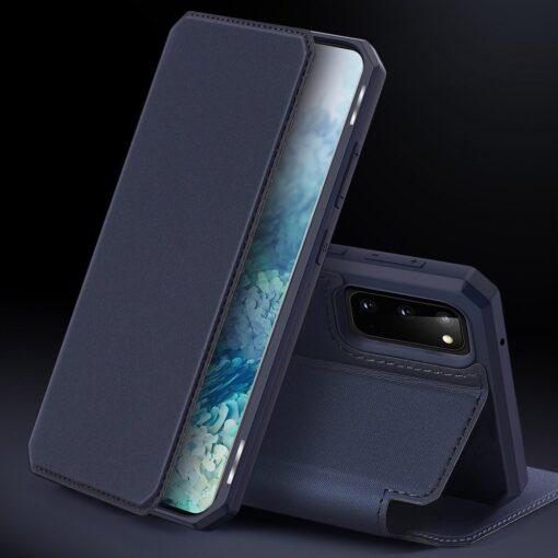 Samsung S20 kunstnahast kaaned kaarditaskuga DUX DUCIS Skin Pro roosa 8