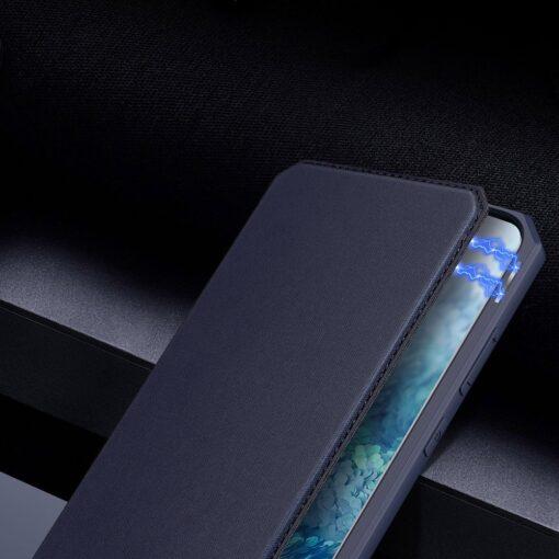 Samsung S20 kunstnahast kaaned kaarditaskuga DUX DUCIS Skin Pro roosa 9