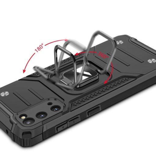 Samsung S20 tugev umbris Ring Armor plastikust taguse ja silikoonist nurkadega must 4