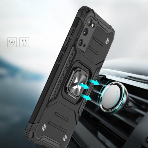 Samsung S20 tugev umbris Ring Armor plastikust taguse ja silikoonist nurkadega must 5