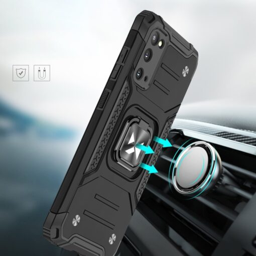 Samsung S20 tugev umbris Ring Armor plastikust taguse ja silikoonist nurkadega roosa 5