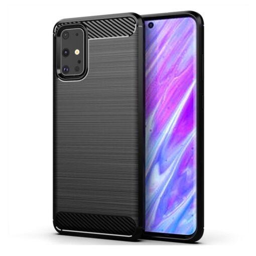 Samsung S20 umbris silikoonist Carbon must