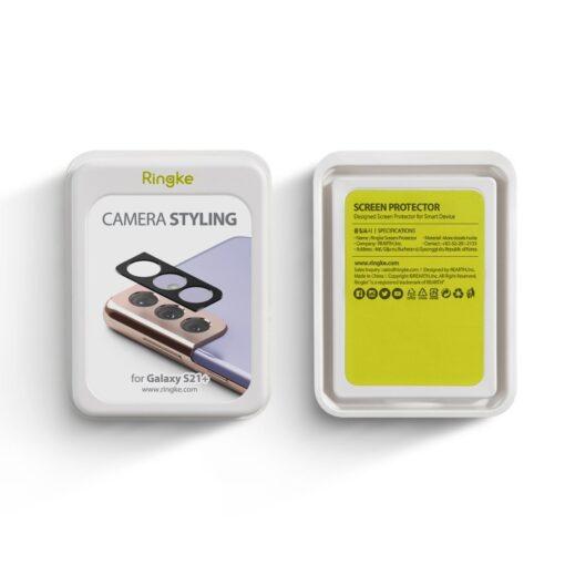 Samsung S21 Plus kaamera kaitse Ringke must 4