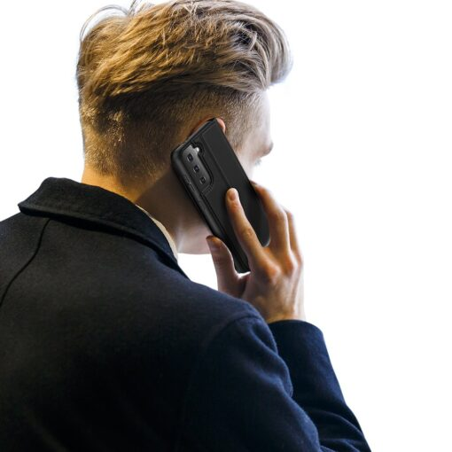 Samsung S21 Plus kunstnahast kaaned DUX DUCIS Skin Pro Bookcase must 9