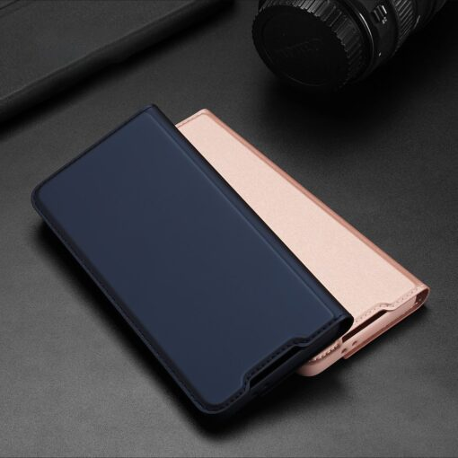 Samsung S21 Plus kunstnahast kaaned DUX DUCIS Skin Pro Bookcase roosa 10