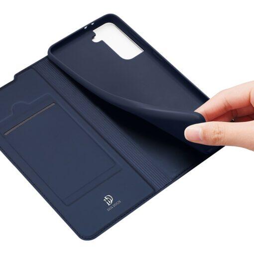 Samsung S21 Plus kunstnahast kaaned DUX DUCIS Skin Pro Bookcase roosa 2