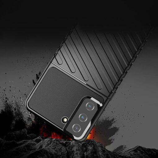 Samsung S21 Plus tugev umbris Thunder silikoonist must 3