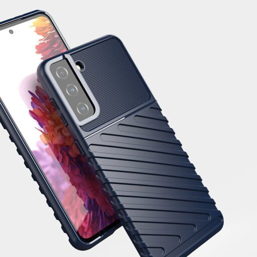Samsung S21 Plus tugev umbris Thunder silikoonist must 5