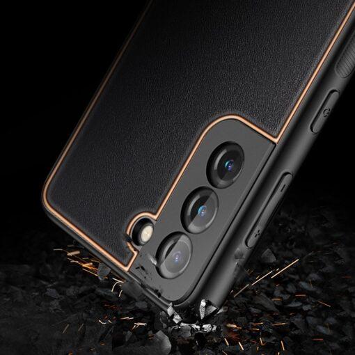Samsung S21 Plus umbris Dux Ducis Yolo elegant kunstnahast ja silikoonist servadega must 10