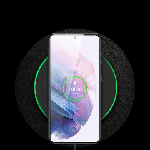 Samsung S21 Plus umbris Dux Ducis Yolo elegant kunstnahast ja silikoonist servadega must 11