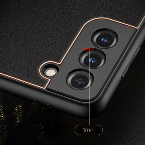 Samsung S21 Plus umbris Dux Ducis Yolo elegant kunstnahast ja silikoonist servadega must 13