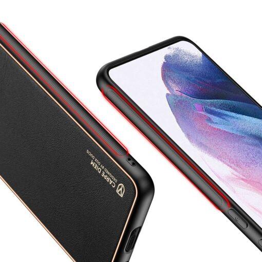 Samsung S21 Plus umbris Dux Ducis Yolo elegant kunstnahast ja silikoonist servadega must 7
