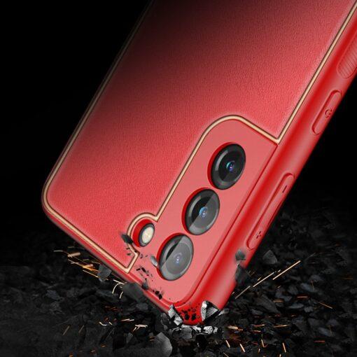 Samsung S21 Plus umbris Dux Ducis Yolo elegant kunstnahast ja silikoonist servadega punane 10