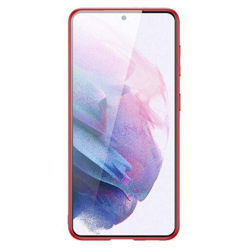 Samsung S21 Plus umbris Dux Ducis Yolo elegant kunstnahast ja silikoonist servadega punane 2