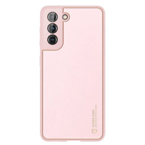 Samsung S21 Plus umbris Dux Ducis Yolo elegant kunstnahast ja silikoonist servadega roosa 1
