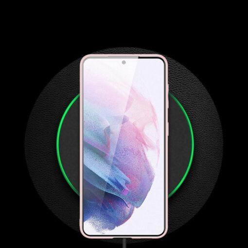 Samsung S21 Plus umbris Dux Ducis Yolo elegant kunstnahast ja silikoonist servadega roosa 11