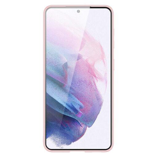 Samsung S21 Plus umbris Dux Ducis Yolo elegant kunstnahast ja silikoonist servadega roosa 2