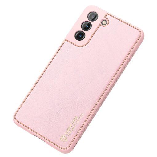 Samsung S21 Plus umbris Dux Ducis Yolo elegant kunstnahast ja silikoonist servadega roosa 3