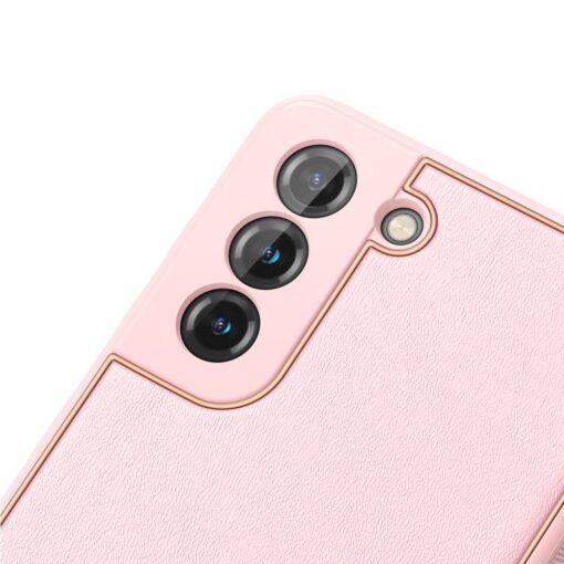 Samsung S21 Plus umbris Dux Ducis Yolo elegant kunstnahast ja silikoonist servadega roosa 5