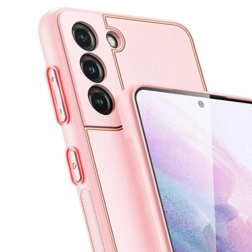 Samsung S21 Plus umbris Dux Ducis Yolo elegant kunstnahast ja silikoonist servadega roosa 6