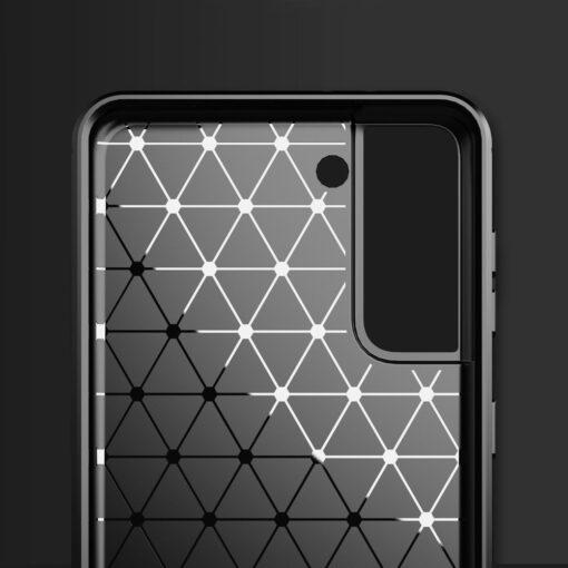 Samsung S21 Plus umbris silikoonist Carbon must 1