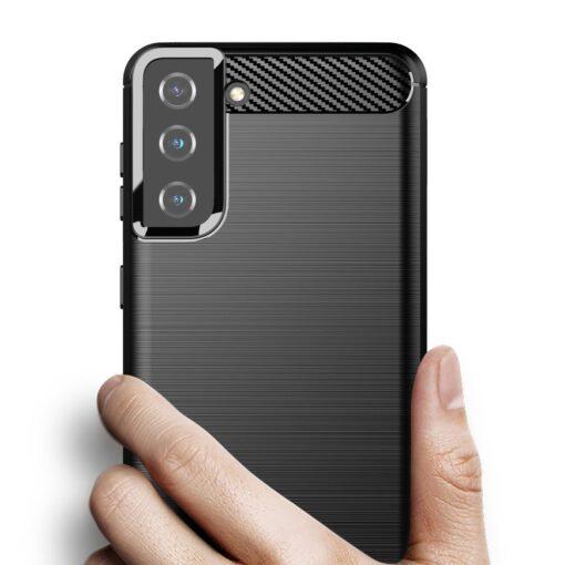Samsung S21 Plus umbris silikoonist Carbon must 2