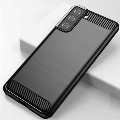 Samsung S21 Plus umbris silikoonist Carbon must 3