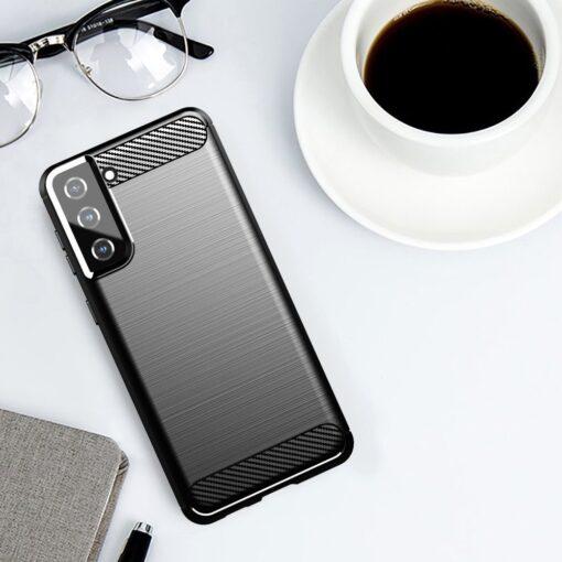 Samsung S21 Plus umbris silikoonist Carbon must 4