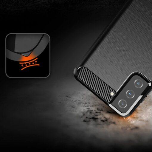 Samsung S21 Plus umbris silikoonist Carbon must 5