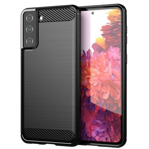 Samsung S21 Plus umbris silikoonist Carbon must