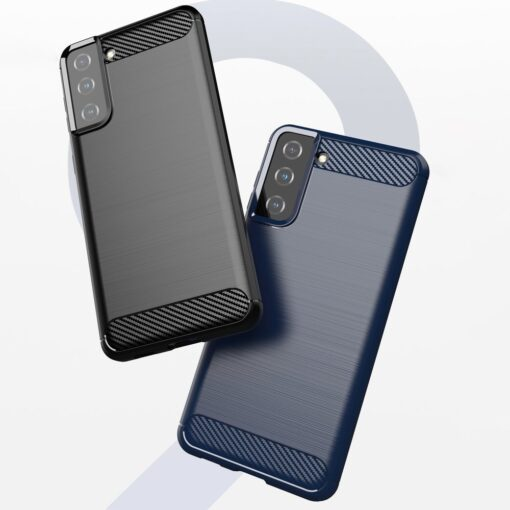 Samsung S21 Plus umbris silikoonist Carbon must 6