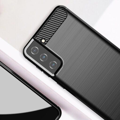 Samsung S21 Plus umbris silikoonist Carbon must 7
