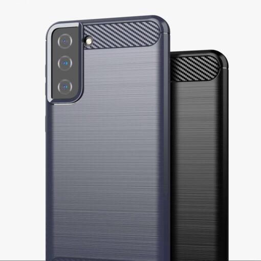 Samsung S21 Plus umbris silikoonist Carbon must 8