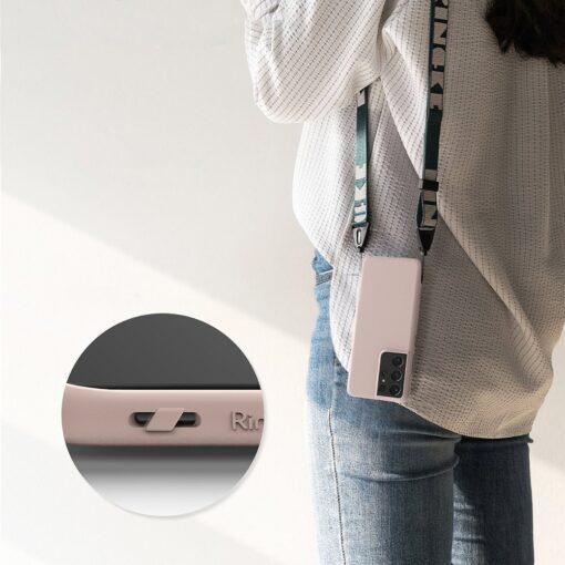 Samsung S21 Ultra kaaned Ringke Air S Ultra Thin silikoonist roosa 1