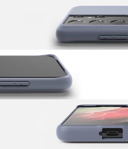 Samsung S21 Ultra kaaned Ringke Air S Ultra Thin silikoonist roosa 3
