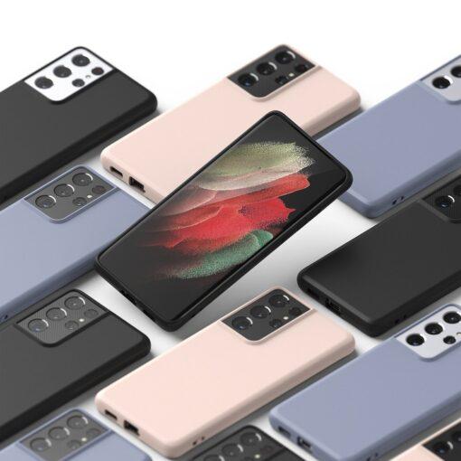 Samsung S21 Ultra kaaned Ringke Air S Ultra Thin silikoonist roosa 7