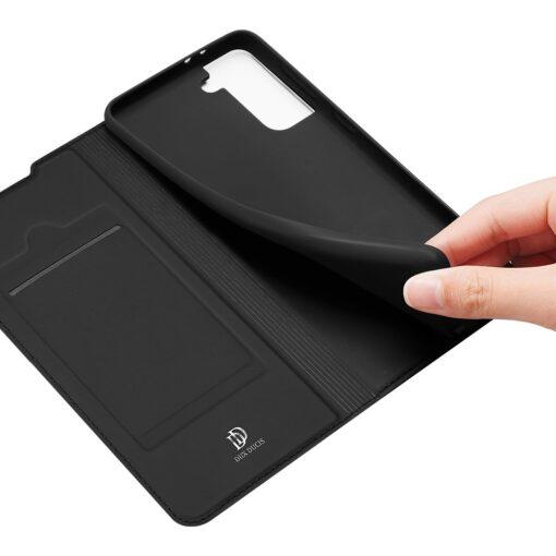 Samsung S21 Ultra kunstnahast kaaned DUX DUCIS Skin Pro Bookcase must 5