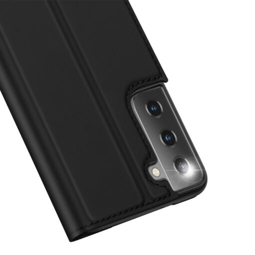 Samsung S21 Ultra kunstnahast kaaned DUX DUCIS Skin Pro Bookcase must 8