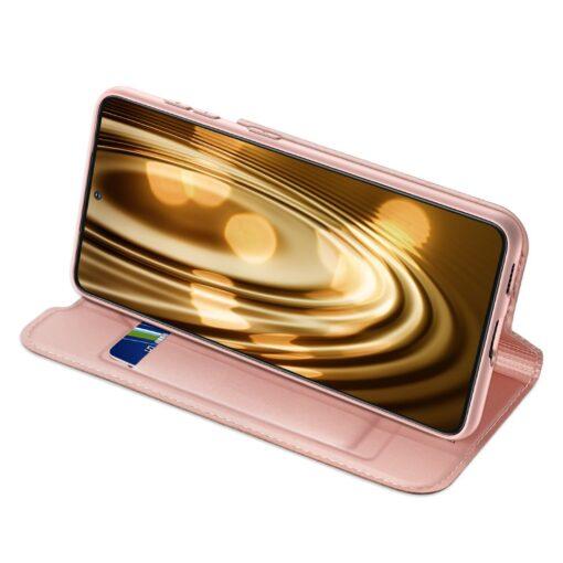 Samsung S21 Ultra kunstnahast kaaned DUX DUCIS Skin Pro Bookcase roosa 2