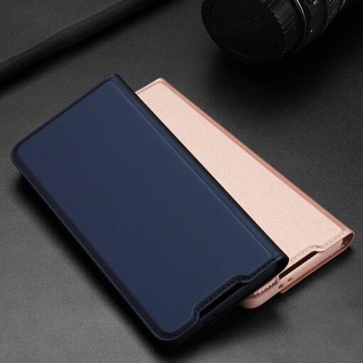 Samsung S21 Ultra kunstnahast kaaned DUX DUCIS Skin Pro Bookcase sinine 11