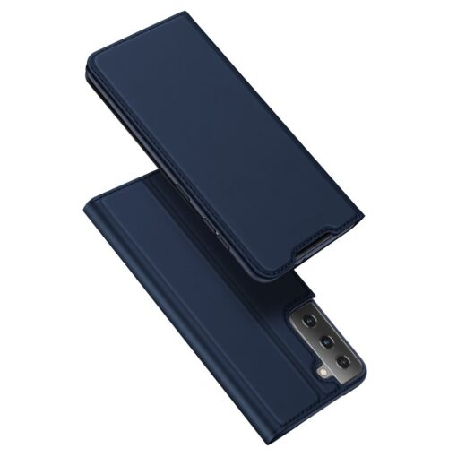 Samsung S21 Ultra kunstnahast kaaned DUX DUCIS Skin Pro Bookcase sinine