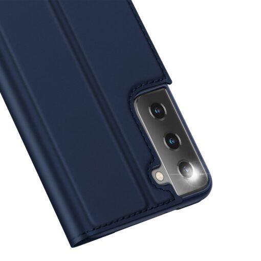 Samsung S21 Ultra kunstnahast kaaned DUX DUCIS Skin Pro Bookcase sinine 8