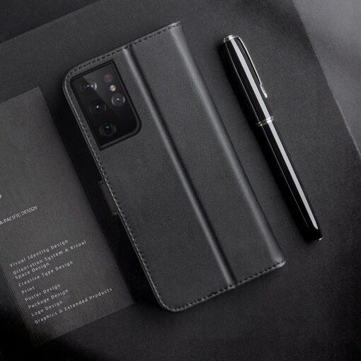 Samsung S21 Ultra nahast raamatkaaned Dux Ducis Hivo must 11