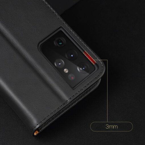 Samsung S21 Ultra nahast raamatkaaned Dux Ducis Hivo must 17