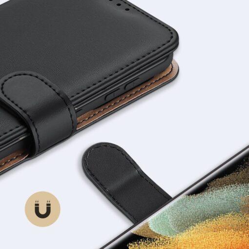 Samsung S21 Ultra nahast raamatkaaned Dux Ducis Hivo must 19