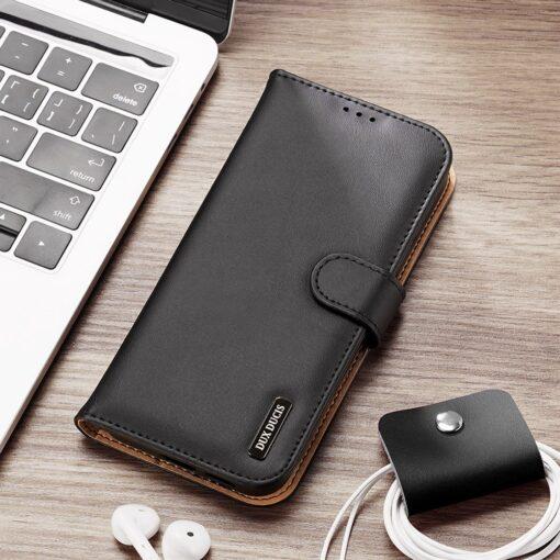 Samsung S21 Ultra nahast raamatkaaned Dux Ducis Hivo must 21