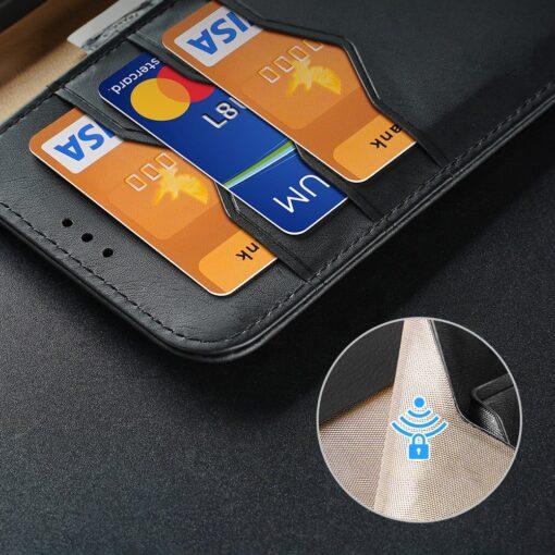 Samsung S21 Ultra nahast raamatkaaned Dux Ducis Hivo punane 12