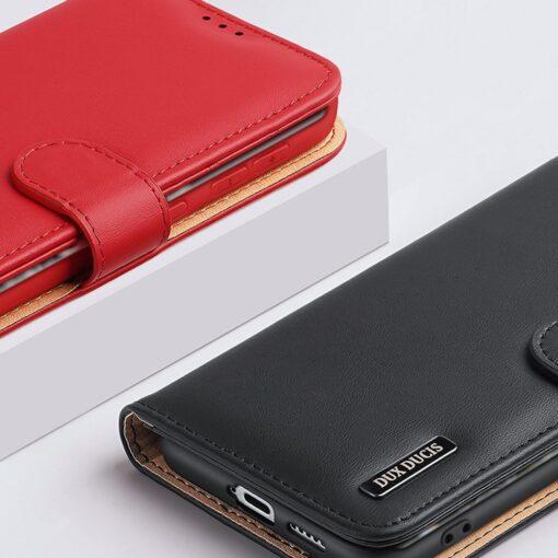 Samsung S21 Ultra nahast raamatkaaned Dux Ducis Hivo punane 14